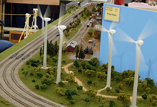 Train wind farm