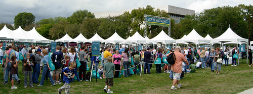 The lines were long and the skies were threatening at this weekend's National Book Festival in Washington, DC.