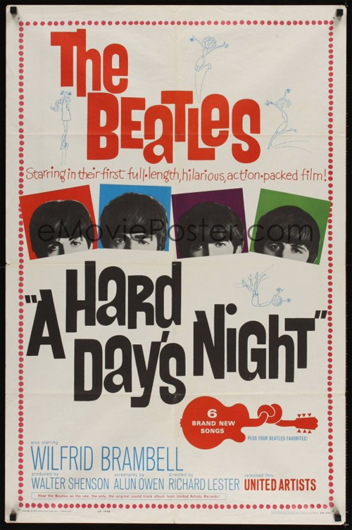 The Beatles - A Hard day's night - Movie poster