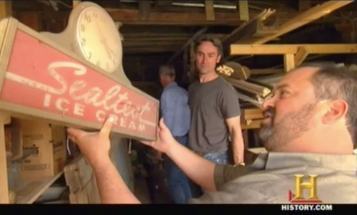 American Pickers Sealtest ice cream sign