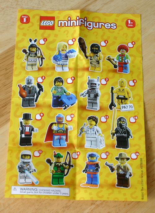 Lego Minifig checklist