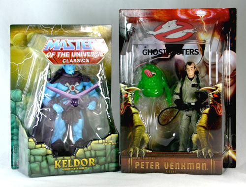 matty collector action figures - Masters of the Universe Keldor and Ghostbustrs Venkman
