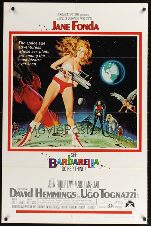 Original one sheet movie poster for Barbarella