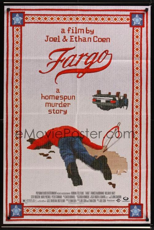 Original one sheet movie poster for Fargo