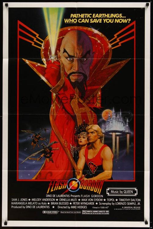Original one sheet movie poster for Flash Gordon