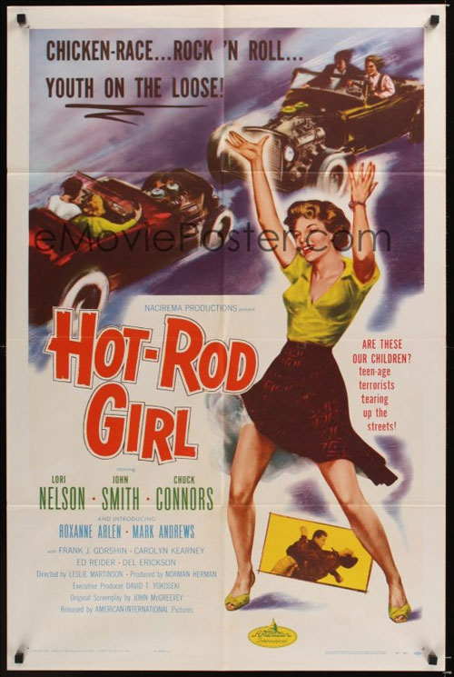 Original movie poster for Hot Rod Girl