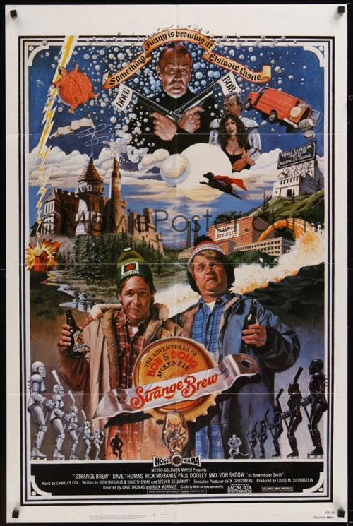 Original movie poster for Strange Brew