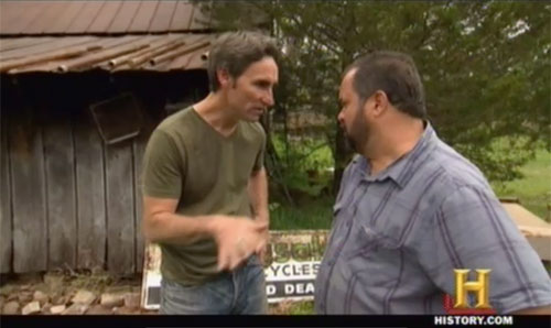 american pickers easy rider - Mike and Frank argue