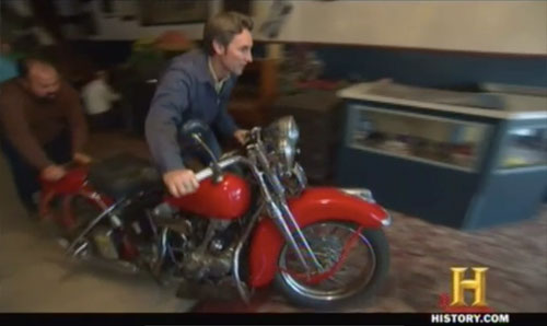 american pickers easy rider Harley Davidson 1937 Knucklehead