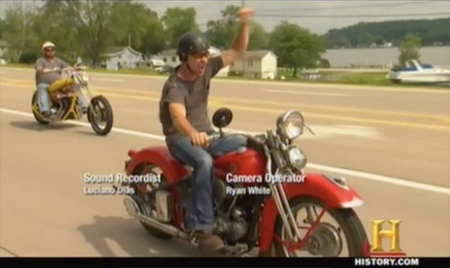 american pickers easy rider- riding the Harley Davidson Knucklehead