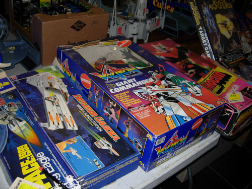 Vintage Battlestar Galactica, Voltron, and Shogun warrior toys