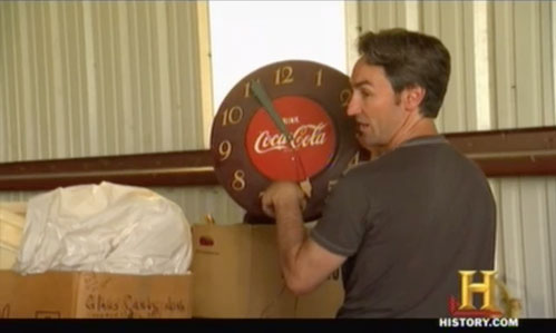 american pickers psychic pickings coca cola clock