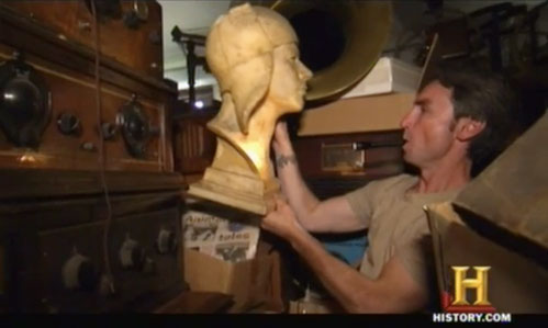 american pickers psychic pickings Lindbergh bust