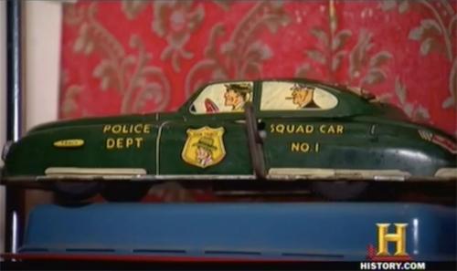 american pickers hobo jack Dick Tracy Marx tin car
