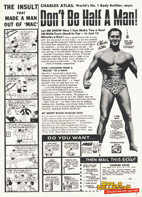 vintage charles atlas ad