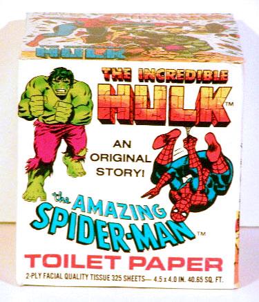 Marvelmania hulk spiderman toilet paper