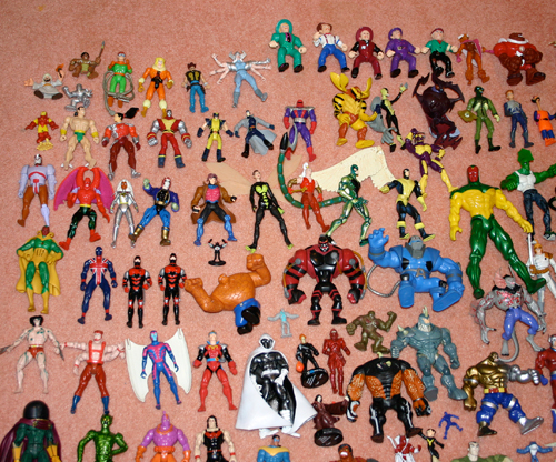 Marvel and DC super hero action figure collection