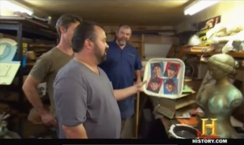 american pickers frank flips Beatles tray