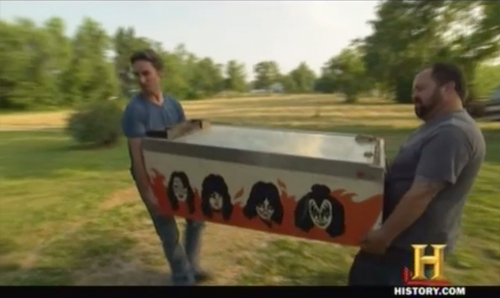 american pickers KISS pinball machine