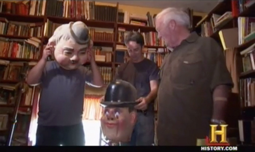 american pickers laurel and hardy masks