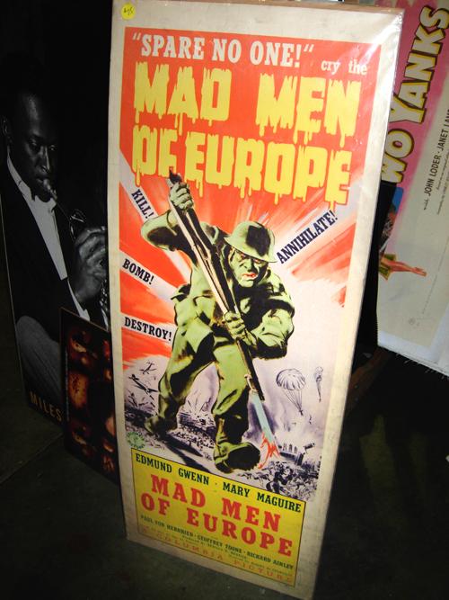 dc big flea mad men of europe poster
