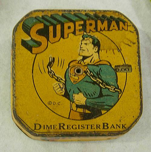 dc big flea superman dime bank