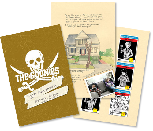 Goonies travel journal by Christopher Tupa