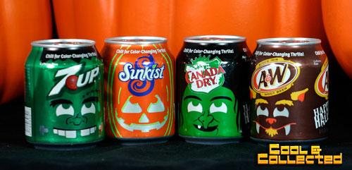 halloween soda cans