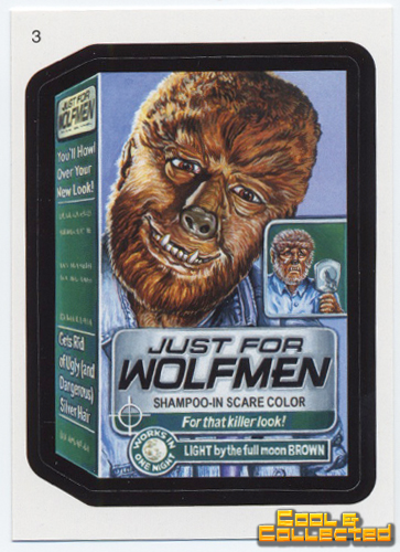 wacky packages series 7 - Wolfman sticker
