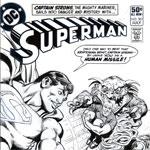original superman comic book art