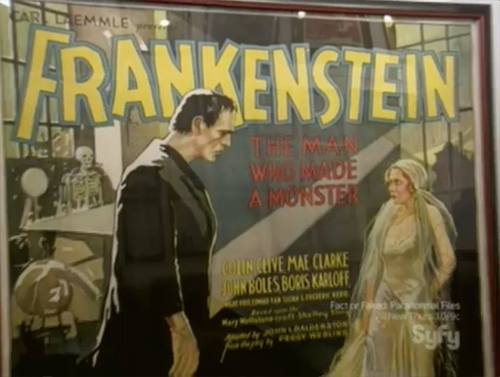 hollywood treasure - Frankenstein 6-sheet movie poster