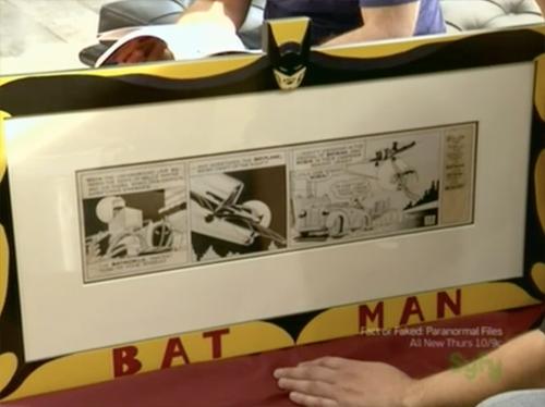 hollywood treasure Bob Kane batman comic strip art