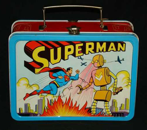 1954 superman vs. the robot lunchbox