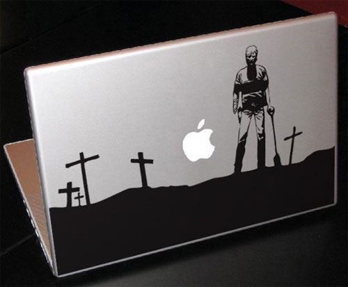 walking dead laptop decal