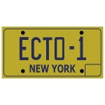 Ghostbusters Ecto 1 License Plate Replica