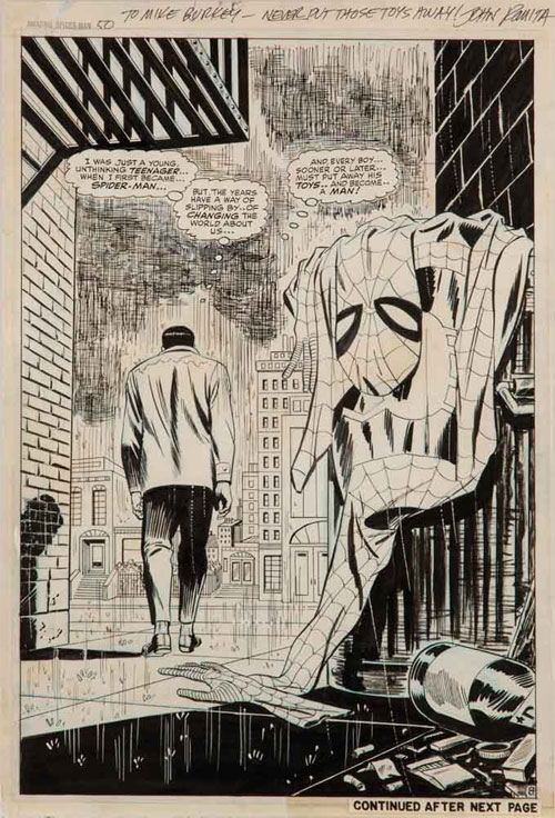 amazing spiderman 50 John Romita