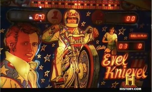 american pickers Evel Knievel pinball machine