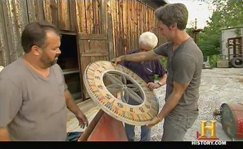 american pickers danielle's pick roulette wheel