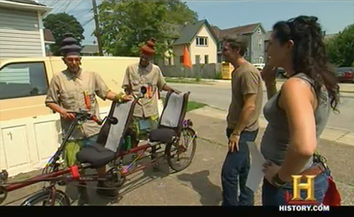 american pickers danielle's pick tandem bike