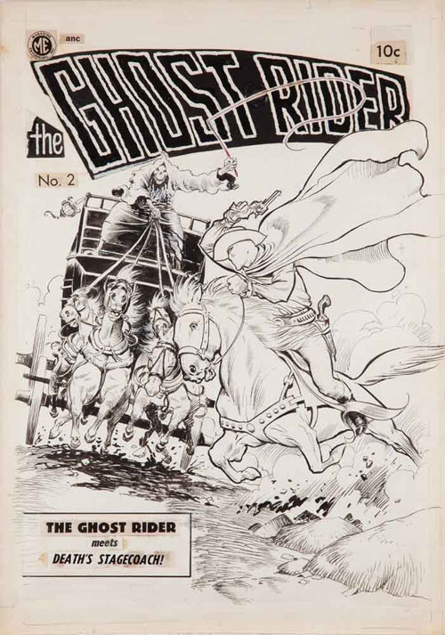 Frank Frazetta ghost rider cover art