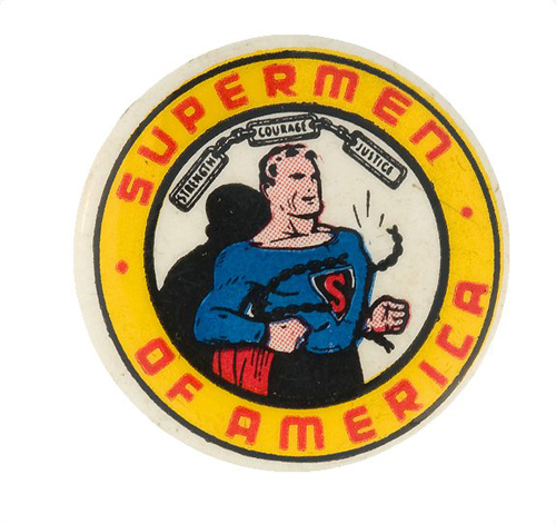 hakes superman pin back