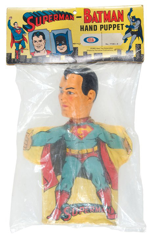 hakes superman hand puppet