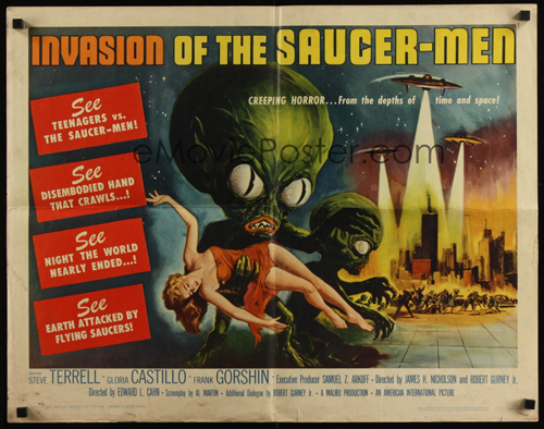 invasion of the saucer-men poster