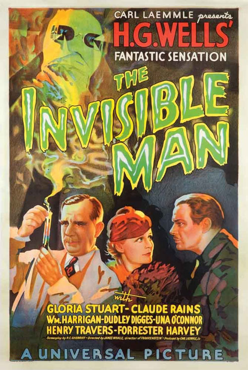 the invisible man poster - H.G. Wells