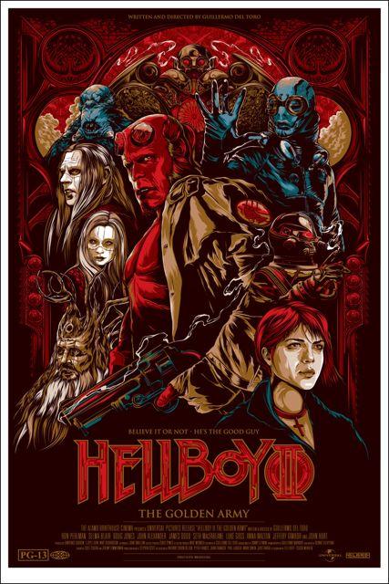 Mondo Hellboy 2 poster by Ken Taylor