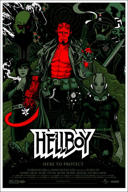 Mondo Hellboy poster by Florian Bertmer