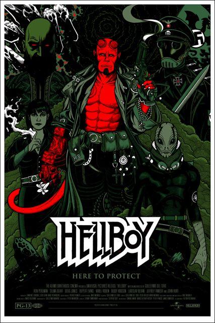 Mondo Hellboy poster by Florian Bertmer