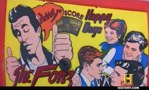 american pickers - Happy Days pinball machine
