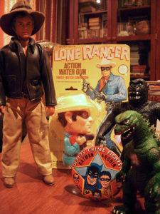 greenberg toy and train show - Godzilla, Batman, King Kong, lone ranger, and Indiana Jones