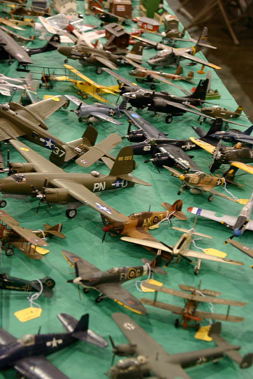 greenberg train and toy show - vintage airplane models for sale
